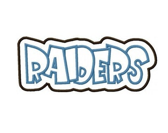 Raiders with a Shadow Embroidery Machine Applique Design 2293