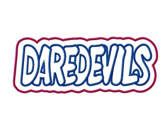 DAREDEVILS with a Shadow Embroidery Machine Applique Design 2295