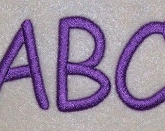 Embroidery Machine Monogram Alphabet Font Set 169