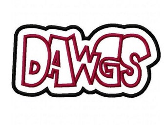 Dawgs Embroidery Machine Double Applique Design 2375