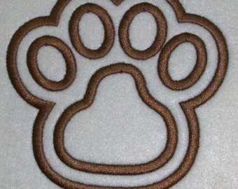 Paw Print with a Shadow Embroidery Machine Applique Design 2049