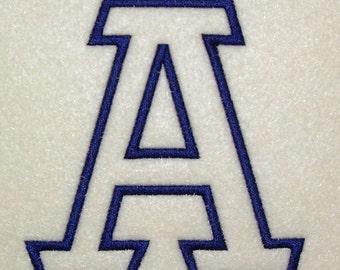 Embroidery Machine Alphabet Monogram Applique Designs 153