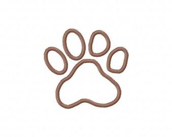 Dog Paw Print Embroidery Machine Applique Design 2183