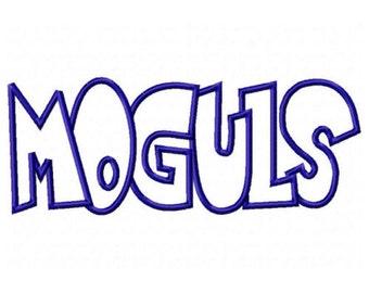 Moguls Embroidery Machine Applique Design 2579