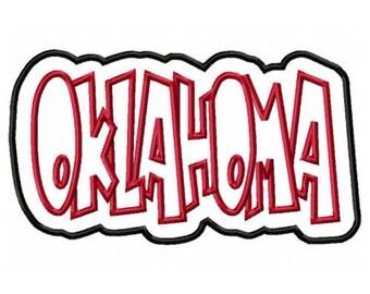 Oklahoma Embroidery Machine Double Applique Design 2840