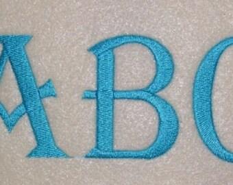 Embroidery Machine Alphabet Monogram Font Designs Set 162