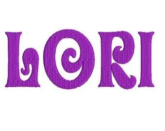 Embroidery Machine Monogram Alphabet Font Set 106