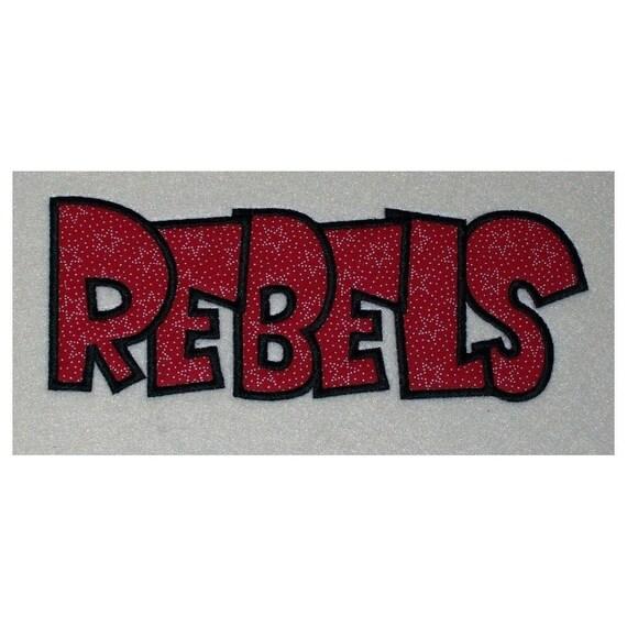 Rebels Embroidery Machine Applique Design 2168
