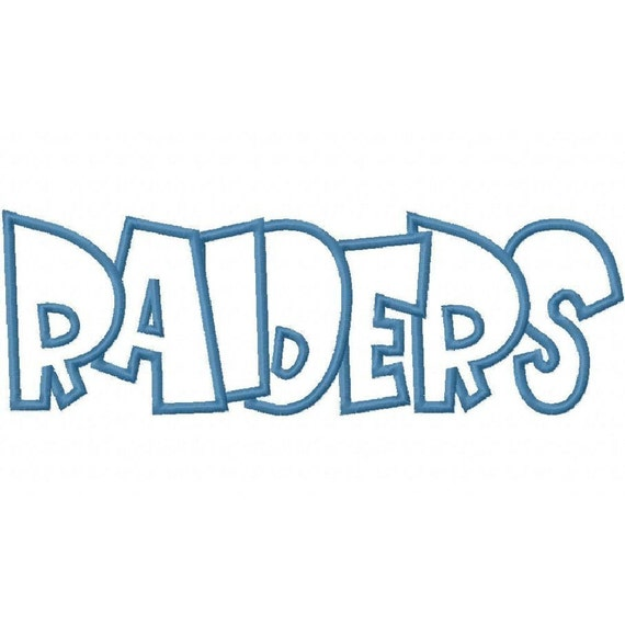 Raiders Embroidery Machine Applique Design 2261