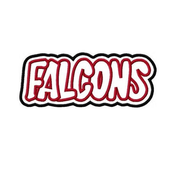 Falcons Embroidery Machine Double Applique Design 2205