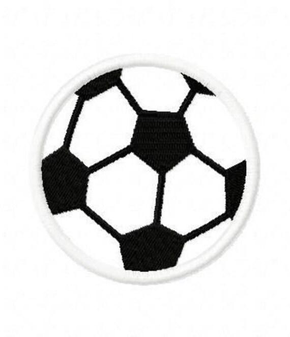 Soccerball Embroidery Machine Applique Design 2443