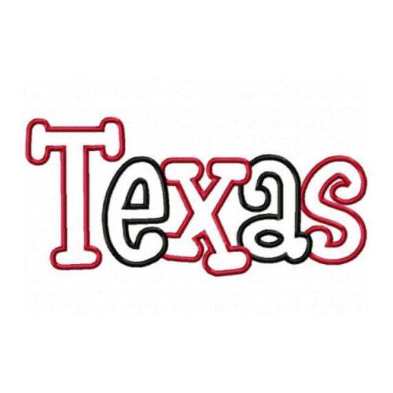 Texas 2 Color Embroidery Machine Applique Design 2564