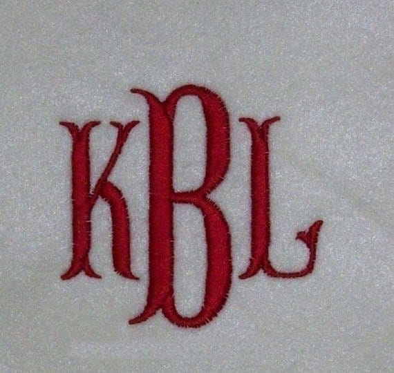 Fishtail Embroidery Machine Alphabet Font Monogram by kayelee