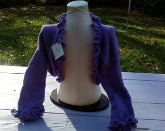 Hand knitted and crochet Ladies Shrug bolero  gift custom orders welcome