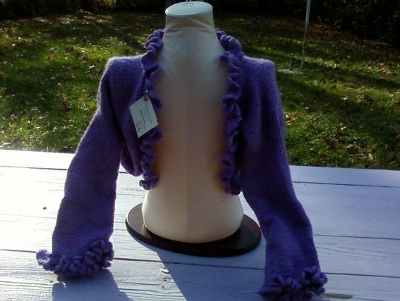 Hand knitted and crochet Ladies Shrug bolero  gift custom orders welcome