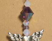 Alexandrite Heart Wings Necklace by toxidlotus