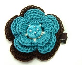 Girls flower hair clips, Girls hair accessories, womens flower clip