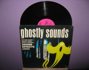 HOLIDAY SALE Rare Vinyl Record Ghostly Sounds LP 1970s Halloween Horror Sound Effects