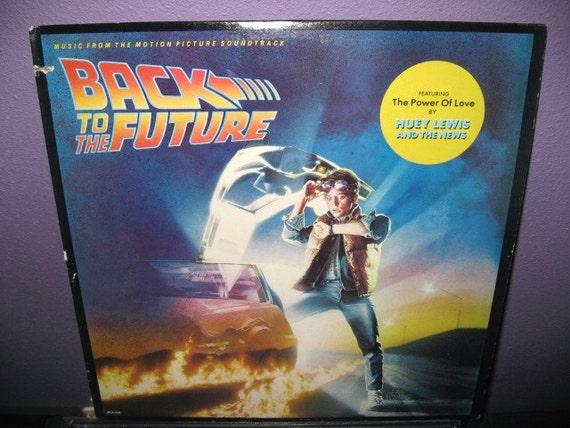 RARE VINYL RECORD Back To The Future Orignal Soundtrack LP NM- 80s Michael J. Fox Classic Spielberg