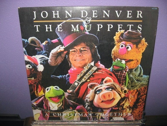 Vintage Vinyl Record John Denver And The Muppets A Christmas
