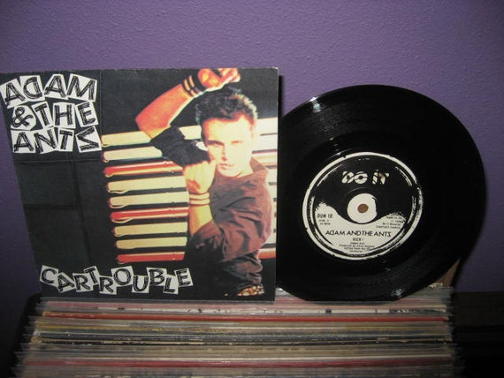 Rare Vinyl Record Adam and the Ants - Cartrouble/Kick 7 inch 45 RPM Single 1980 Post Punk New Wave IMPORT