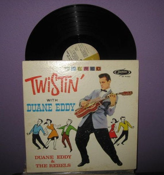 Rare Vinyl Record Twistin' with Duane Eddy & The Rebels LP 1962 Rockabilly Guitar Mad Men Dance Party