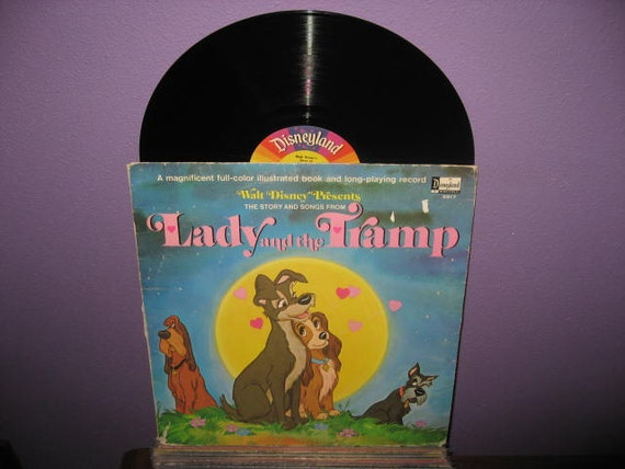 Vinyl Record Disney S Lady And The Tramp Story Amp Songs