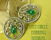 Lacy Circle Earrings Tutorial - wire wraping ornamental motif tutorial