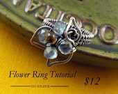Flower Ring Tutorial - wire wrapping floral motif tutorial