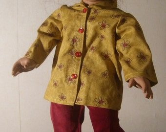 Velvet pants with shirt fits American Girl and other 18 inch dolls