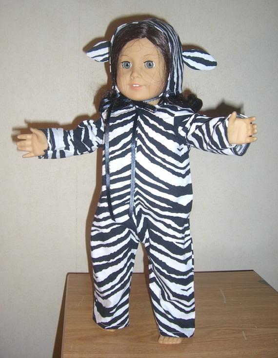 Zebra Costume for 18 inch American Girl Doll