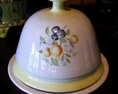 Vintage  Ceramic Plate With Domed Lid