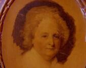 Martha Washington (The Athenaeum Portraits) on Gold Leaf Frame