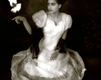"""Frida(Model) with Dove,(""""Frida's Release) 8x12 Archival Photographic Print"""