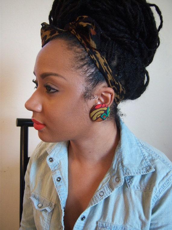 Tribal Button Earrings