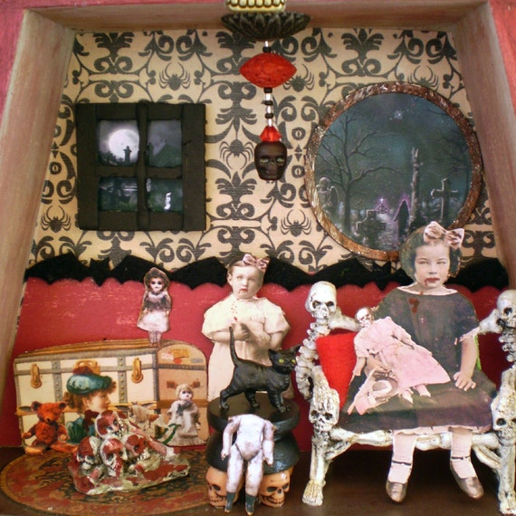 Shadow Box Victorian Gothic Vampire Kids By NacreousAlchemy