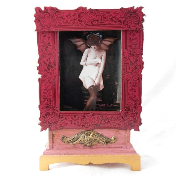 Shadow Box Flapper Vampire RESERVED For MICHELE REILLY
