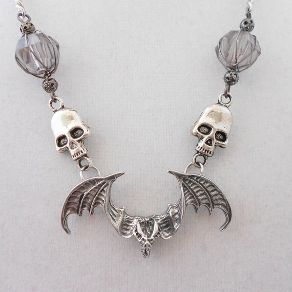 Gothic Jewelry - Bat Pendent Necklace - Gothic Accessories