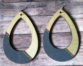 Peace Within Hand Painted Wooden Earrings