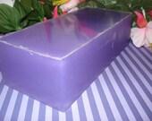 Lavender glycerin soap loaf