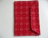 Nook, Kindle,, E-Reader Padded Cover in Bright Red and White