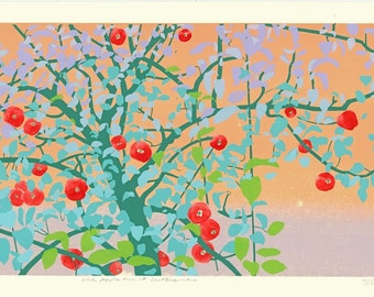 Old Apple Tree at Scattercreek - Hand Pulled Screen Print