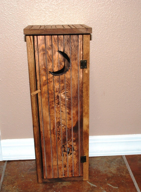 Items Similar To Rustic Outhouse Toilet Paper Storage On Etsy