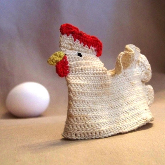 Cluck, Cluck Crocheted Hen Egg Cozy