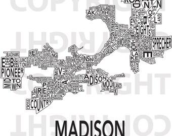 Urban Neighborhood Poster - Madison - 24 x 36