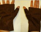 Legend of Zelda Link Fingerless Brown Gloves Costume Cosplay Accessories