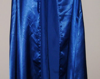 Child's Dressup Dress Up Cape Costume Cosplay Blue Satin Size Medium 7 8 9