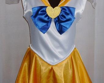 Super Sailor Scout Cosplay Costume Size 4 6 8 10 12 Venus Mars Jupiter Mercury Pluto Saturn Neptune Uranus