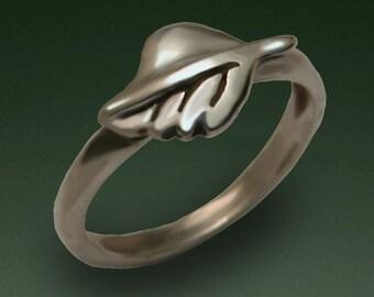 Leaf Ring - Sterling Silver