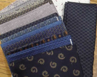 Fields of Blue and Gray fabric kit
